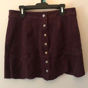 American Eagle Purple Velvet Skirt